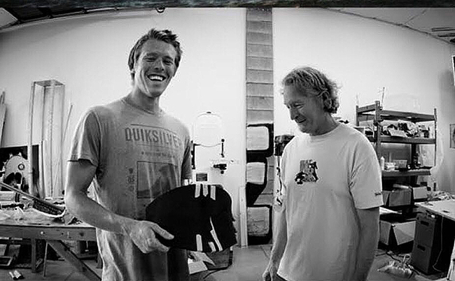 Coleman with Tony Logosz, one of the founding brothers of Slingshot Kiteboarding.