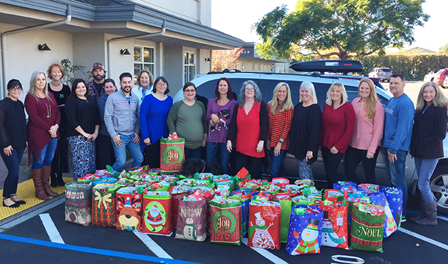 Santa Cruz Home Finance and their Christmas donations!