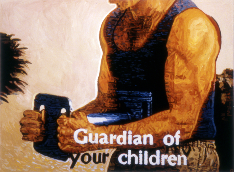 """Guardian of Your Children,"" 1985; Casein on Paper; 22""X30"""