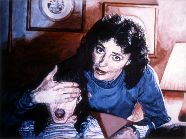 """Don't Look Now,"" 1985; Acrylic on Canvas; 36""X48"""