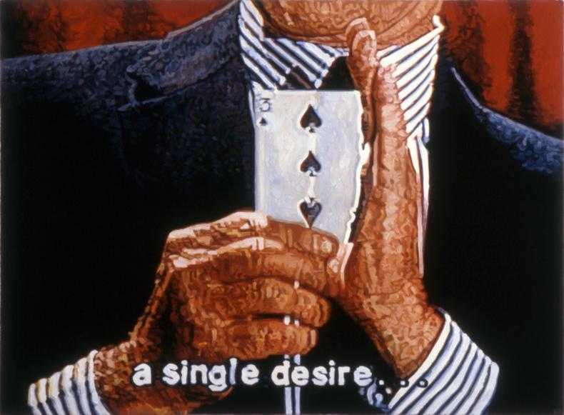 """""""A Single Desire,"""" 1987; Casein on Paper; 22""""X30"""""""