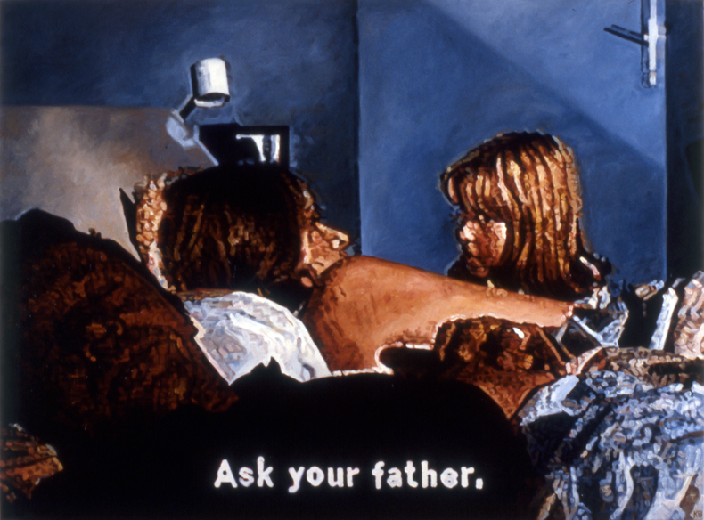 """Ask Your Father,"" 1986; Oil on Canvas; 36""X48"""
