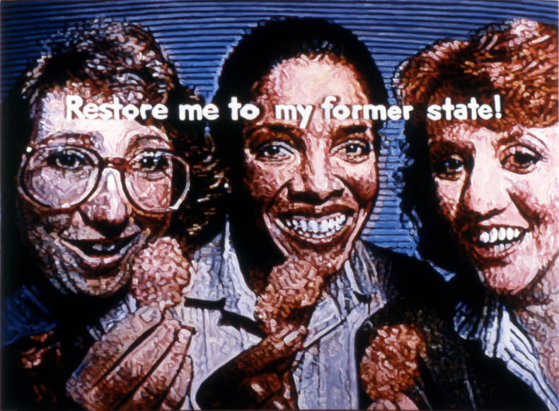 """Eat Me,"" 1987; Acrylic on Canvas; 36""X48"""