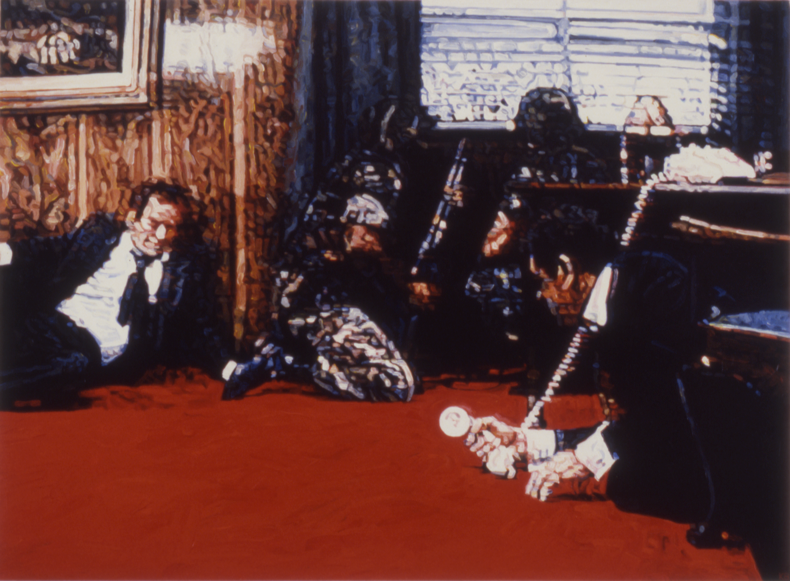 """Teleguns #3,"" 1988; Acrylic on Canvas; 40""X54"""