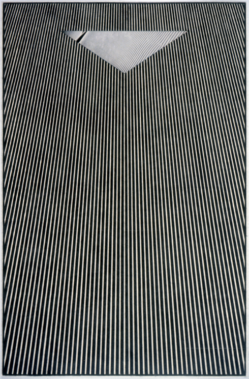 """Tread #22,"" 1996; Graphite Rubbing/Collage on Paper; 40""X26"""