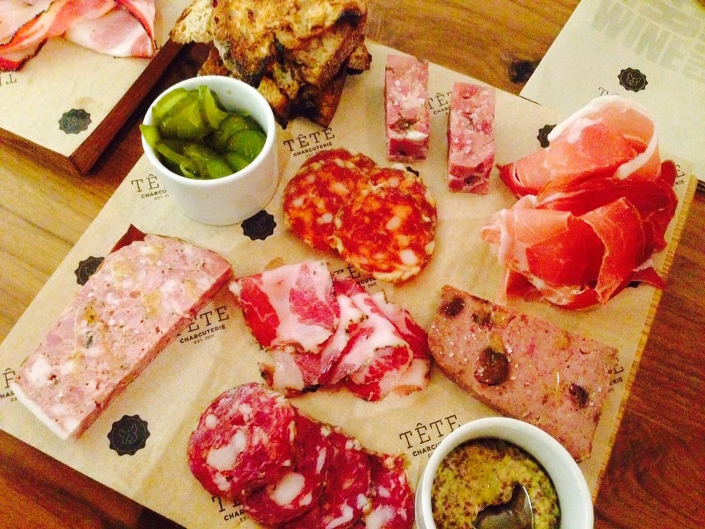 Charcuterie tasting from Tete