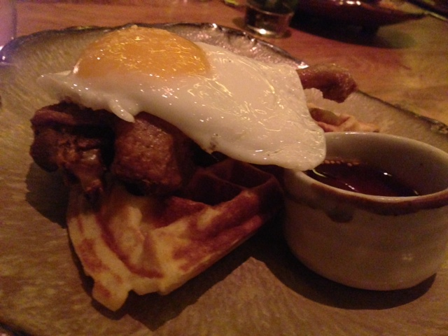 The duck and waffle at Duck and Waffle