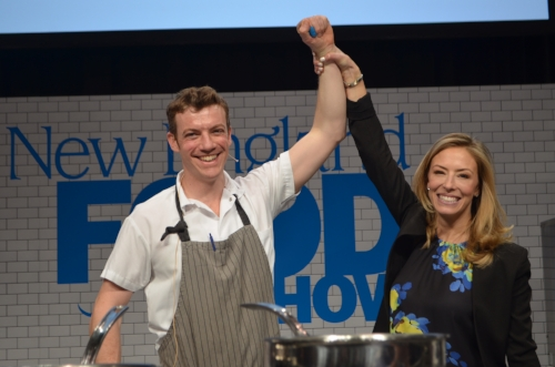 Winner Chef Carl Dooley and Emcee extraordinaire Jenny Johnson