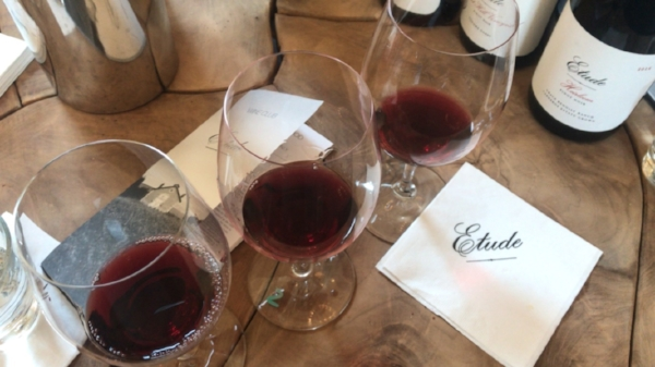 Three Pinots at Etdues Winery