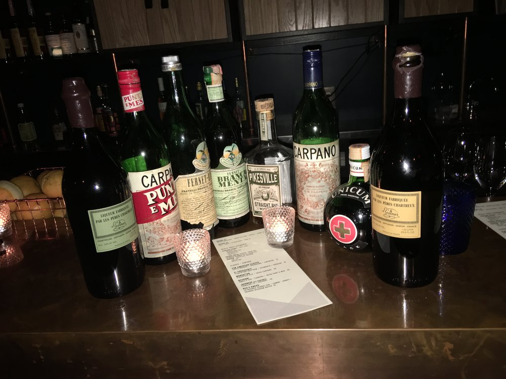 Vintage Spirit Selection From the Back Bar