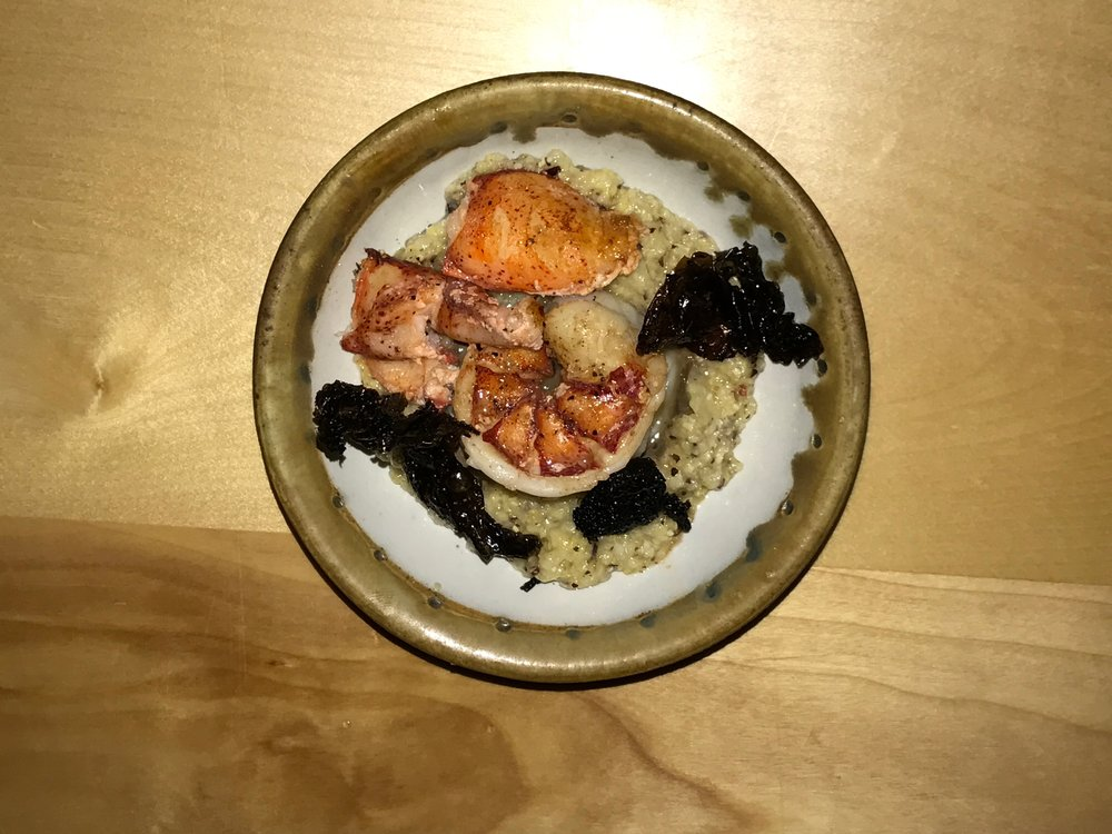 Lobster With Fried Nori and Polenta