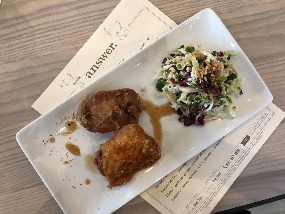 Chicken (Sambal, Sesame, Citrus Ginger, Peanut Slaw, Togarashi)