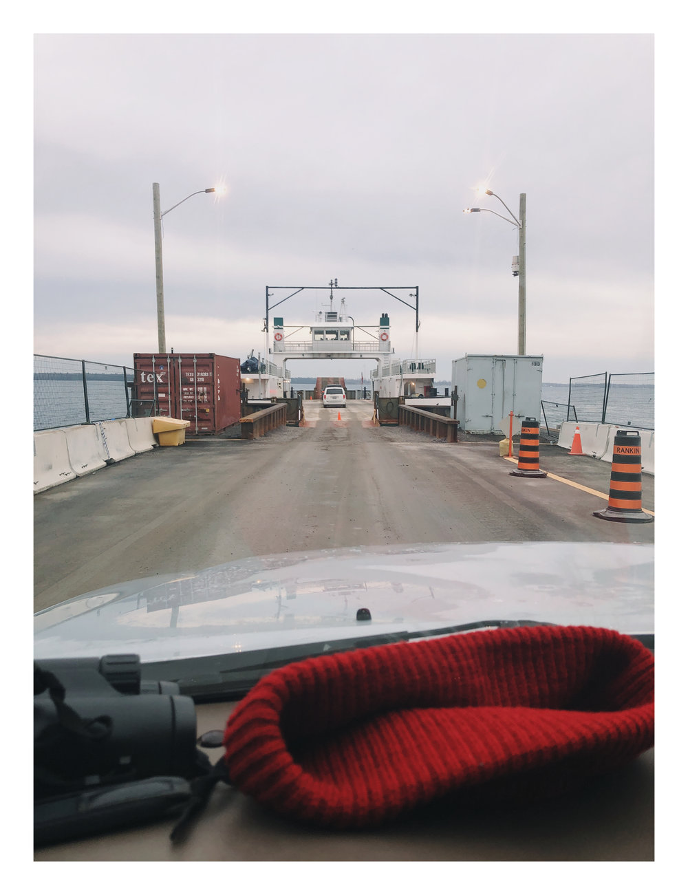 Waiting to get on the ferry (iphone)