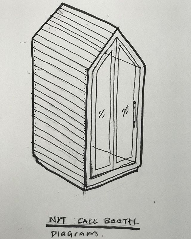 Made at #FoundersLabNYC // sketch for a call booth built and designed by @sunbunker for a #NewYorkTimes event @previeweventsorg #previewevents - - - - - #nomofomo #newyorkevents #timeoutnewyork #seeyourcity #newyorklife #nycevents #iloveny #touristythings #discovernyc #newyorkexplored #bigapple #what_i_saw_in_nyc #nyclife #onlyinnyc #nycnights #livemorenyc #loves_nyc #luminaries #event #red #pink