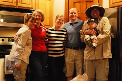 Debbie, Amy, Skip, and Drew