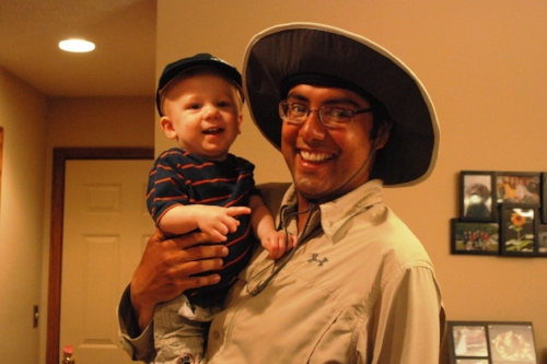 Drew looks better in his hat than John-Michael does.