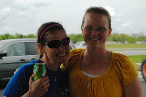 Jessica (enjoying her complimentary soda, courtesy of Shirley), and Casey.