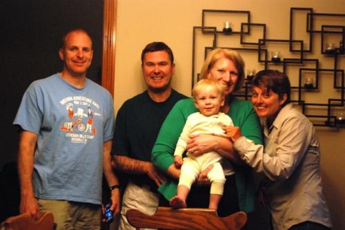 Skip, Brad, Drew, and Debbie
