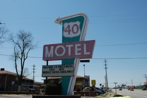 A relic from before the days of the interstate, when US 40 was the king of the roadways.