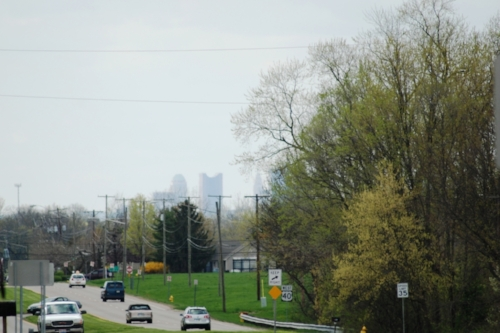 Columbus in the distance. The biggest metropolitan area we've been in since we left the Philadelphia metro area.