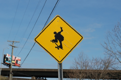 Skater Crossing. That's a new sign to us.