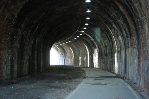 A tunnel on the pedestrian path in Wheeling, WV.