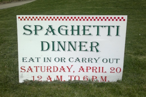 These guys know how to party! An 18 hour spaghetti dinner.