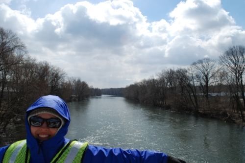 Crossing the Schuylkill river