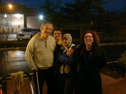 Jim, Rachael, and Sharon with Tara.