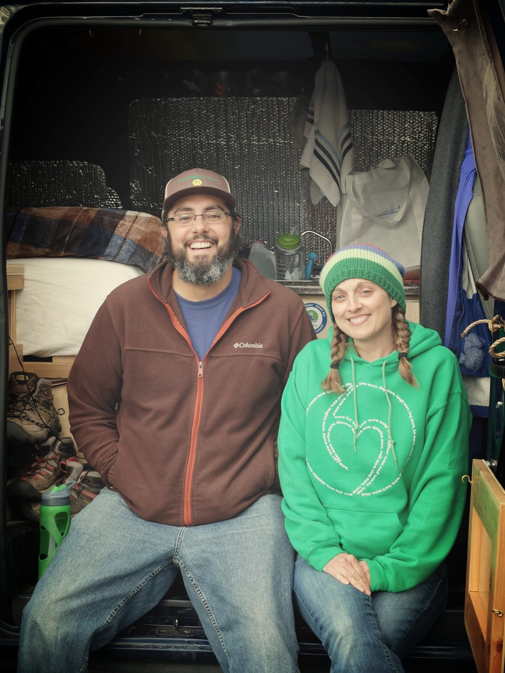 "Their greatest joy in volunteering across the country, John-Michael (left) and Tara (right) say, is ""getting to meet the people who work every day to help those in need in their communities…We are happy any time we can work to help heal the earth."" (MCC photo/Laura Pauls-Thomas)"