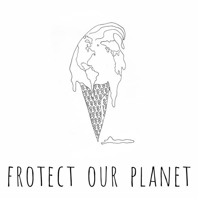 #marchforscience. CLIMATE CHANGE IS FRO REAL.  Illustration by @ecreipmik . . .  #feminist #frozenyogurt #puns #earthday #sciencemarch #protestart #notmypresident #dumptrump #resist