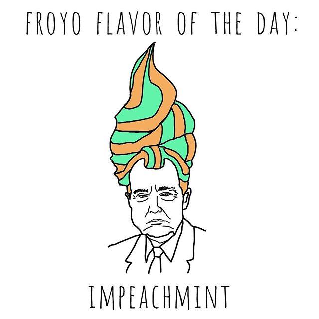 #notmypresident #impeach #impeachtrump #dumptrump #russiagate #resist #protestart #impeachment #sallyyates #impeachandimprison #trumpforprison #trumptrainwreck #puns #froyo #frozenyogurt #feminism