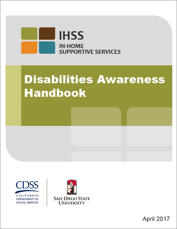 IHSS Disabilities Handbook Cover