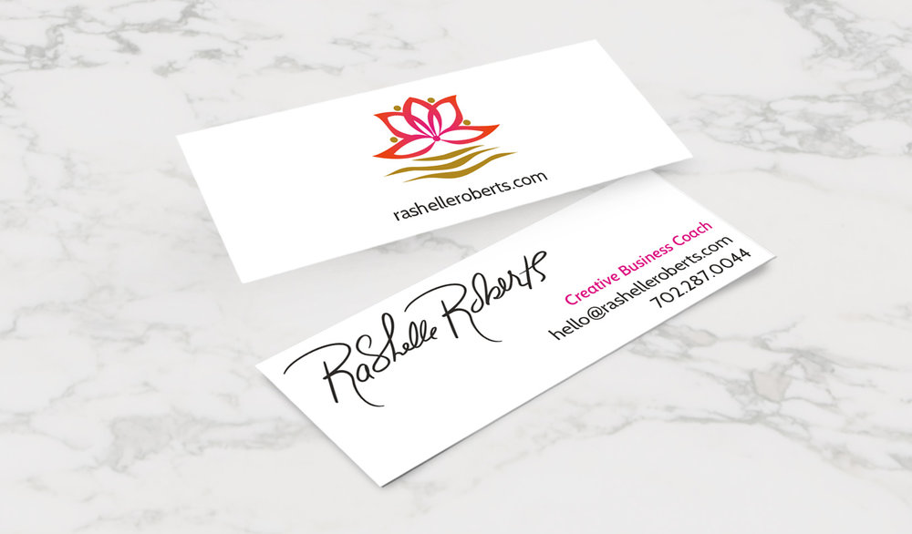 The Business Card: no frills, simple, clean as she wished