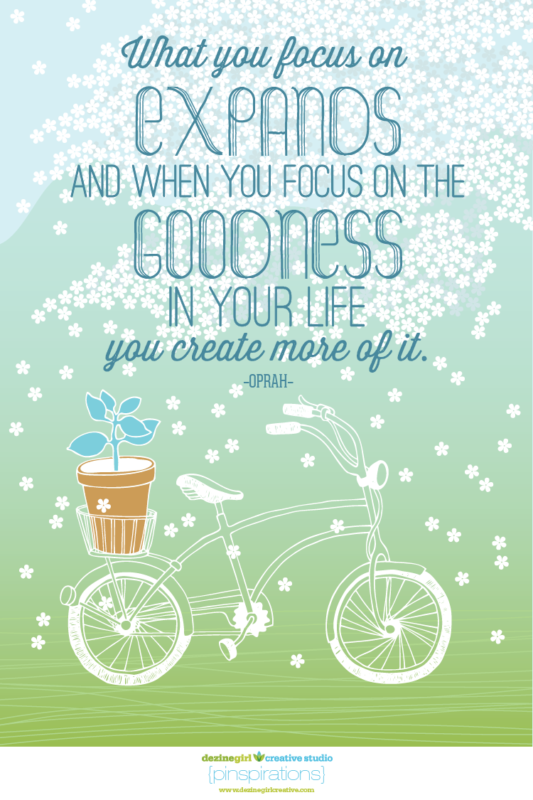 Focus on the goodness