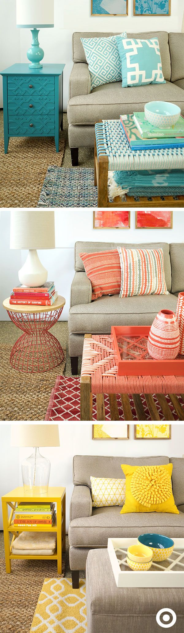 Some of these pieces are from Target stores - not necessarily right now.