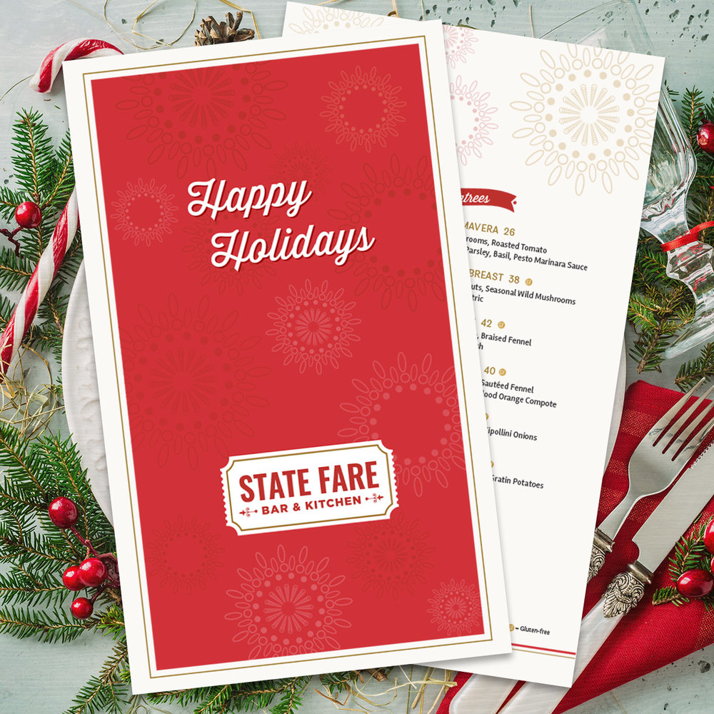 2017 Holiday Menu Design