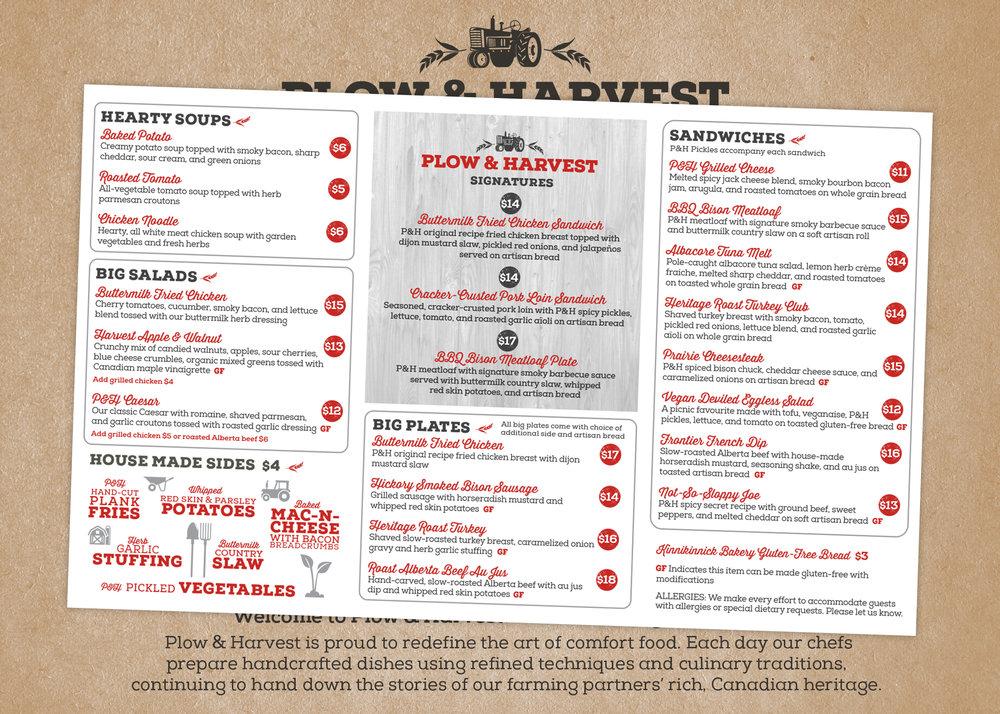 Inside of main menu trifold