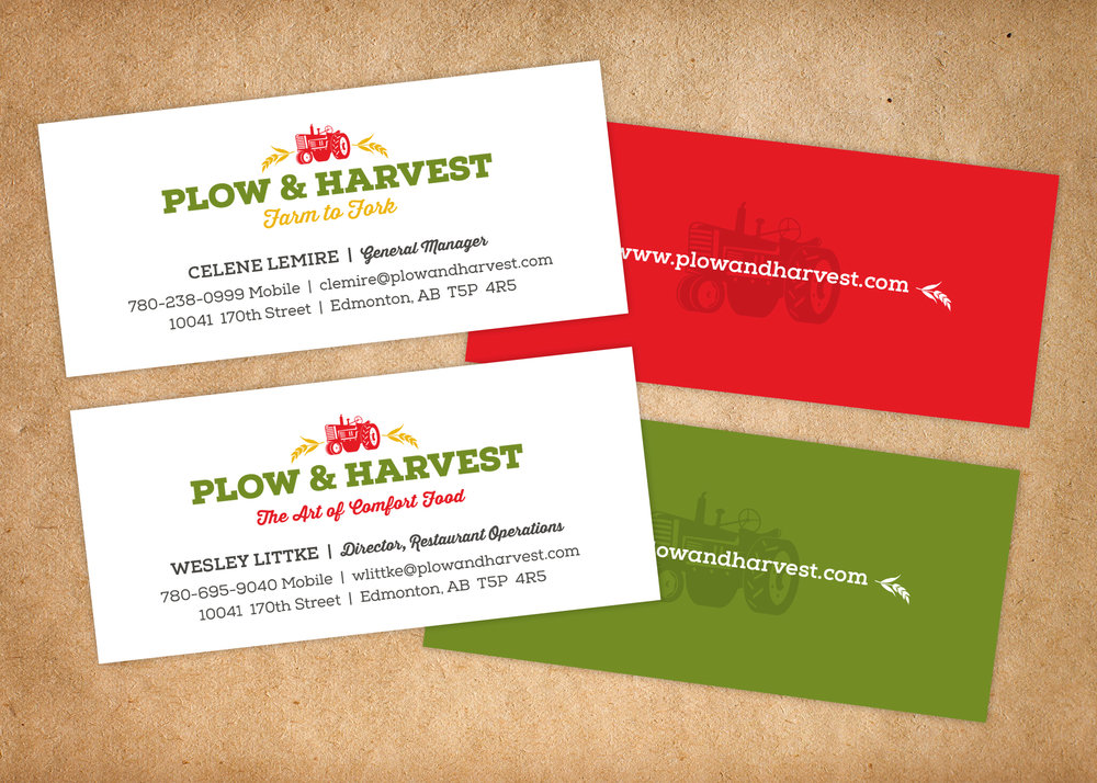 As the staff was slowly hired, business cards transformed.