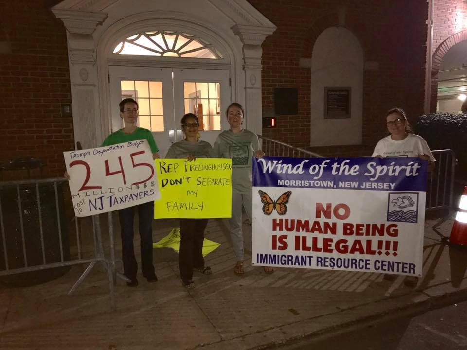 518AM. We out here Congressman Frelinghuysen! Which side are you on #DefundHate — with Theresa Markila, Karol Yorlany Ruiz and Megan Wolff..jpg