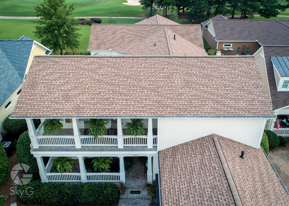 Aerial Photography - Roof Replacement
