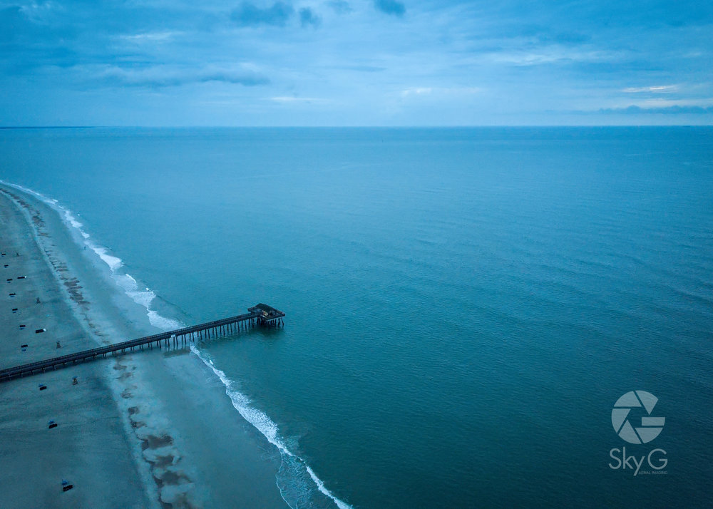 Aerial Photography - Tybee Island Pier at Sunrise