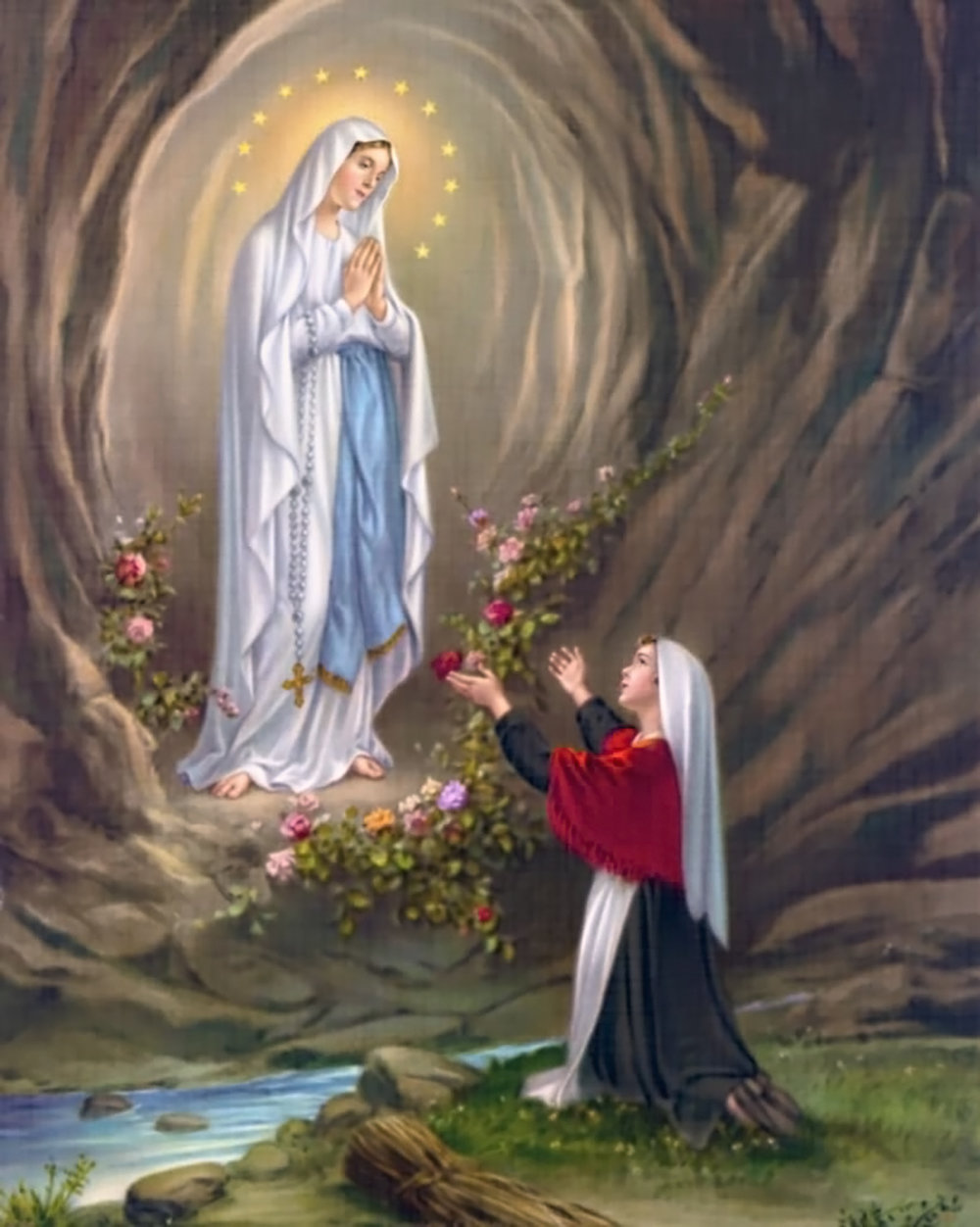 Our Lady of Lourdes and St Bernadette