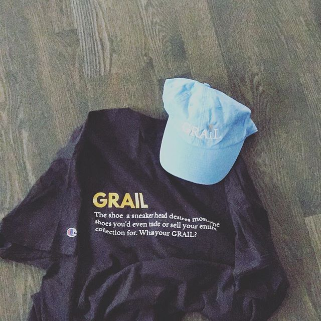 GRAIL Uniform Tees limited sizes and availability  Link in bio, other colors will be added to the site this evening. @grail_boutique x @champion . . #getyourgrail #grail #grailmerch #supportyourlocalhustler #fathersandbuisinessowners #stragg