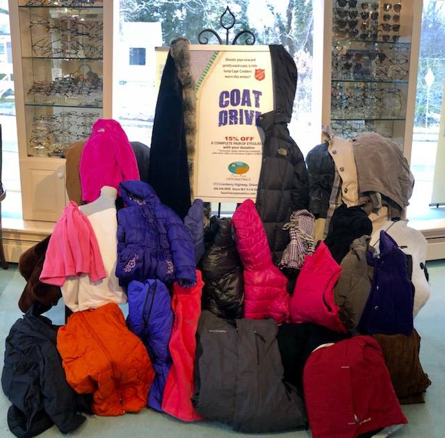 We are so impressed with the generosity of our patients, customers, friends and neighbors who went out of their way to stop by and make a donation to our annual coat drive this year. These 33 coats will be helping to keep those in need on Cape Cod warm this winter and next!