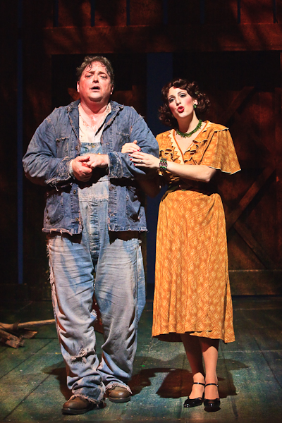 as Curley's Wife with Michael Hendrick, Of Mice and Men, Kentucky Opera (photo by J. David Levy)