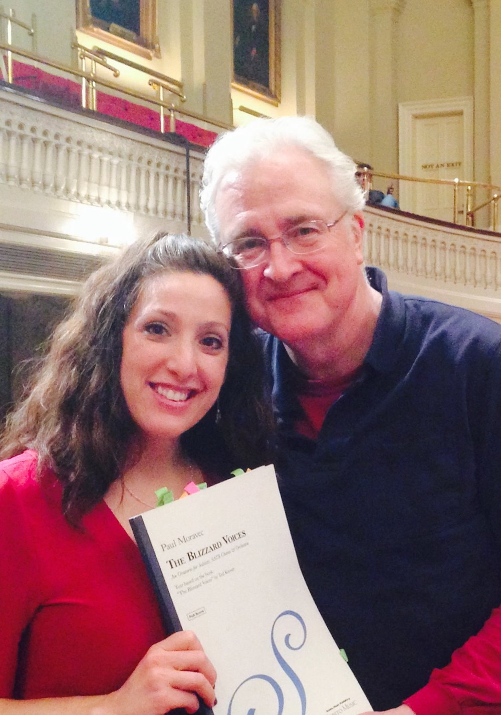"with composer Paul Moravec during recording session ""Blizzard Voices"""