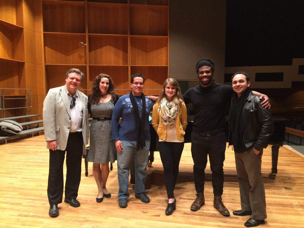 master class students with University of Fairbanks (AK) masterclass