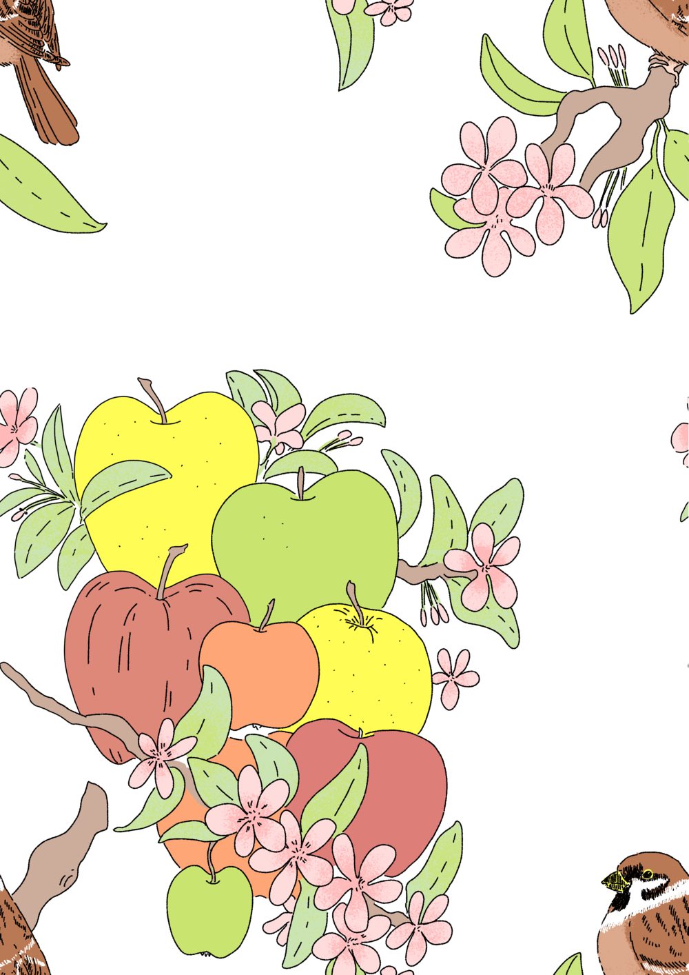 Apple and Sparrow pattern