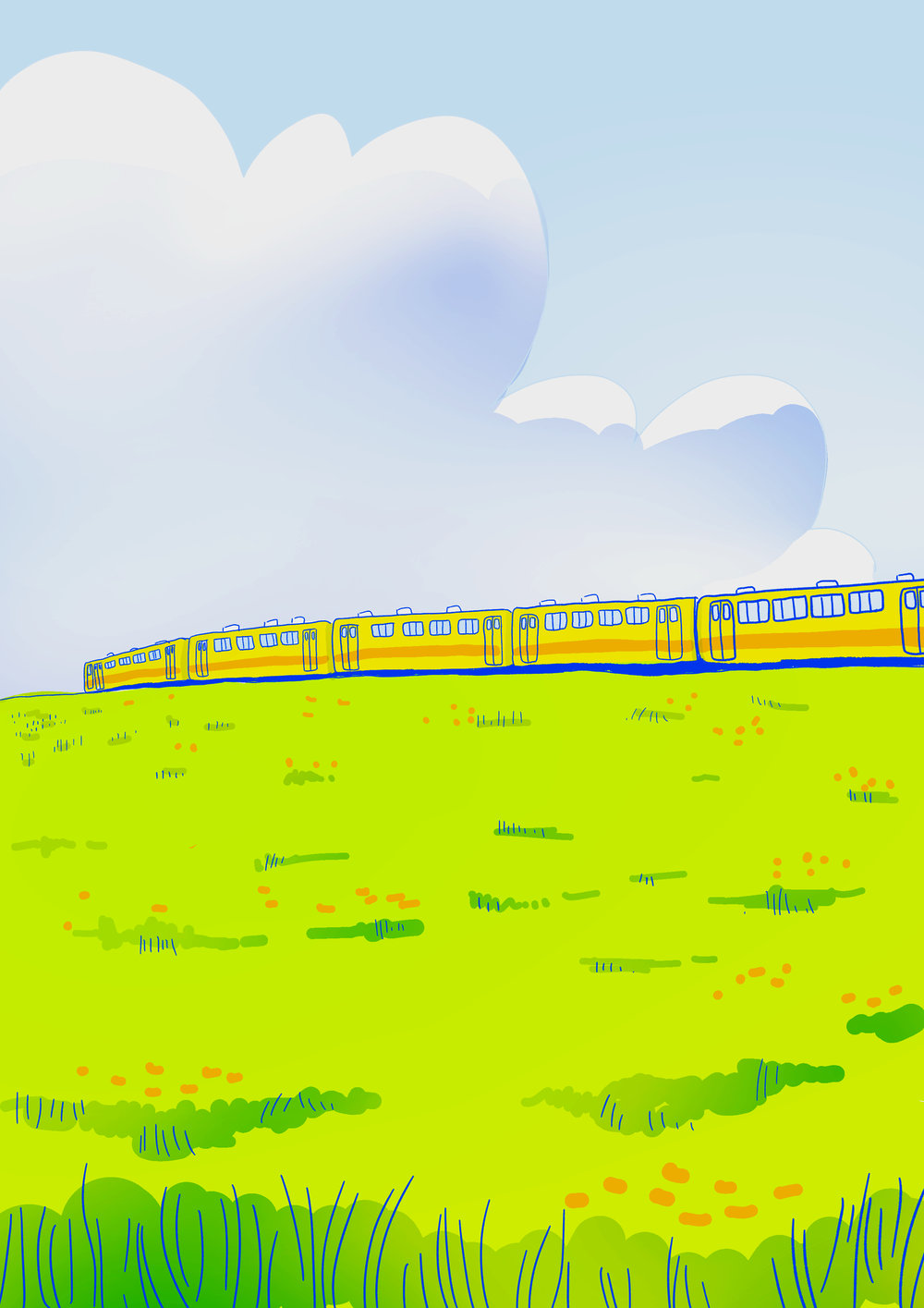 Landscape concept: inspired by Japanese train advertisements